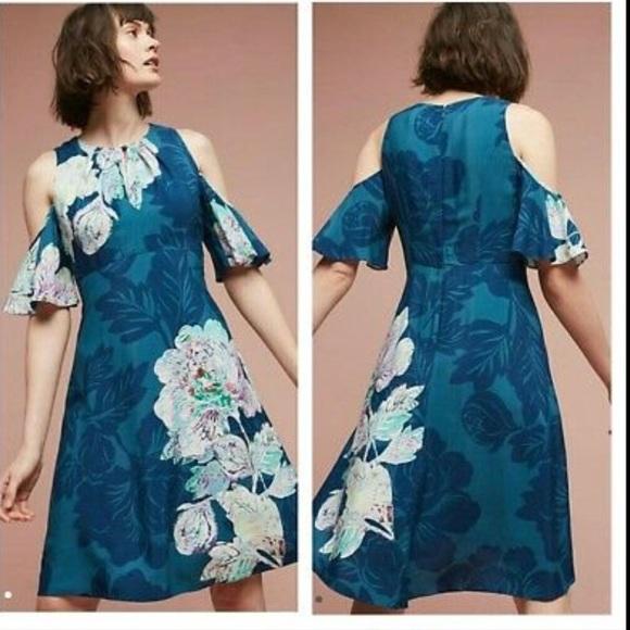 4 NWT Anthropologie Elia Open-Shoulder Dress Maeve //2